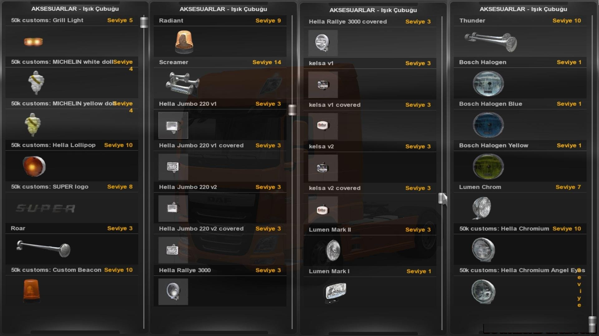 Pack Of Accessories For All Trucks Ets2 Mods Euro