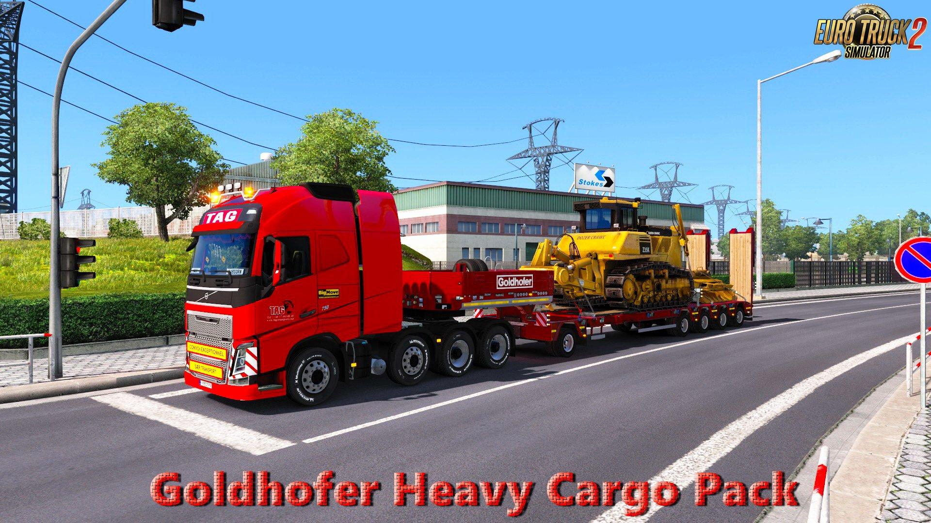 goldhofer heavy cargo pack ets2 mods euro truck simulator 2 mods ets2mods lt. Black Bedroom Furniture Sets. Home Design Ideas