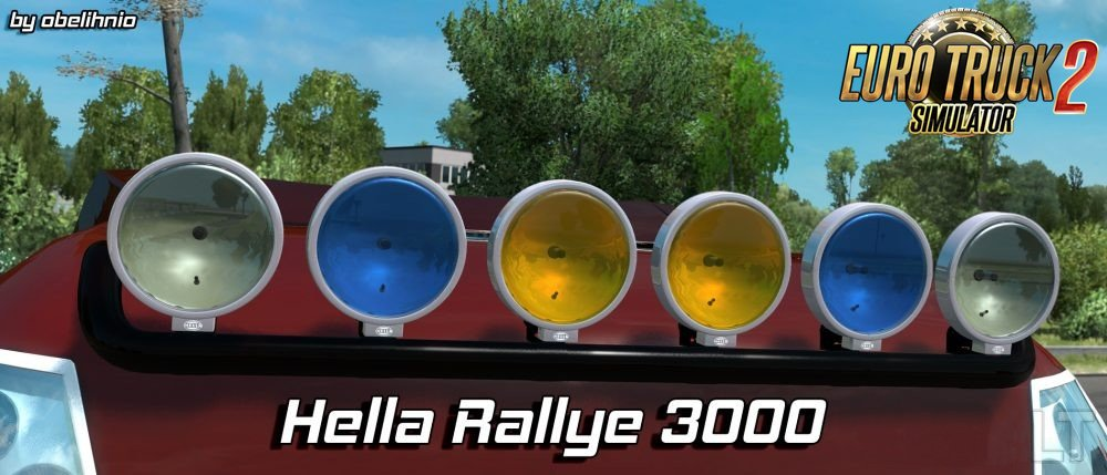 hella rallye 3000 ets2 mods euro truck. Black Bedroom Furniture Sets. Home Design Ideas