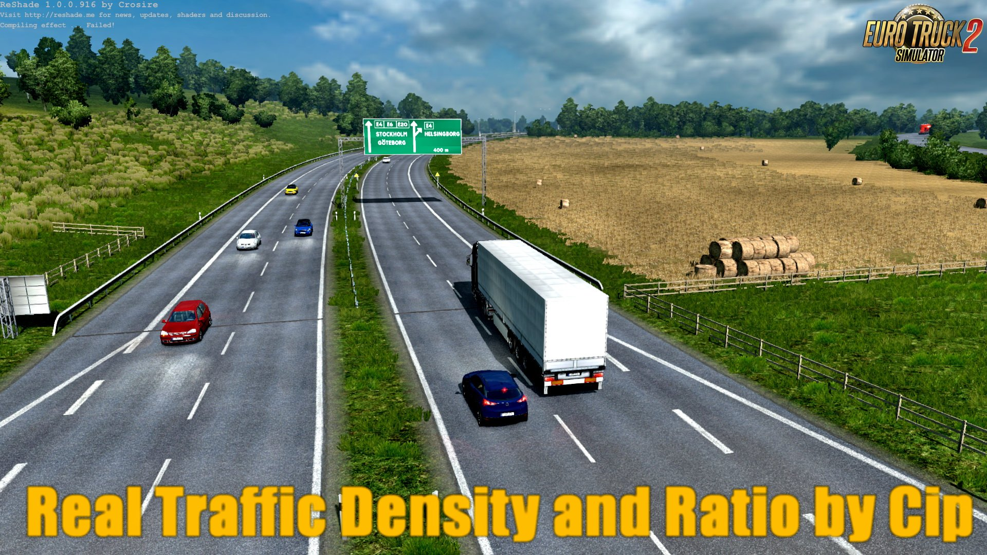 REAL TRAFFIC DENSITY AND RATIO v1 35b | ETS2 mods | Euro