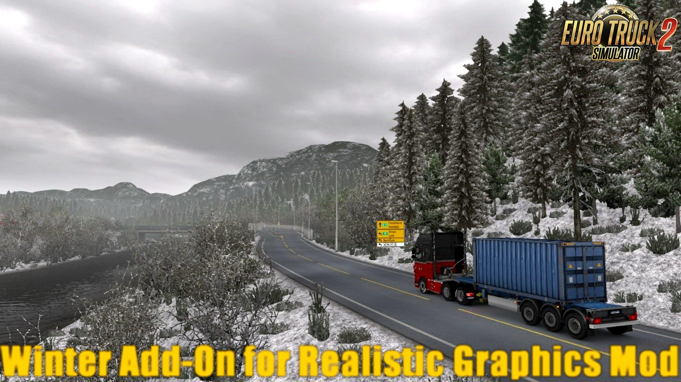 Winter Add-On for Realistic Graphics Mod v0 9 3 (1 30 x) | ETS2 mods