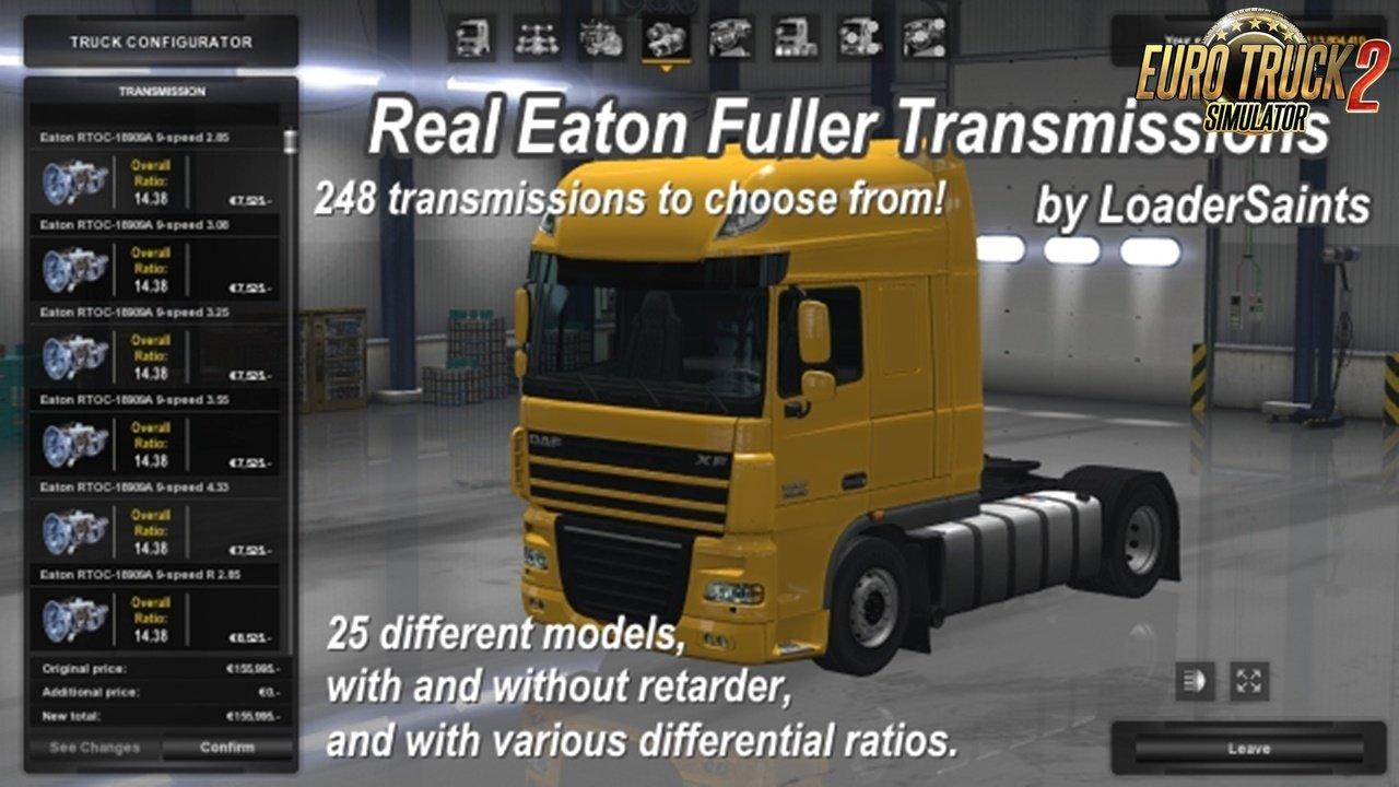 Real Eaton Fuller Transmissions v1 2 0 [1 30 x] | ETS2 mods