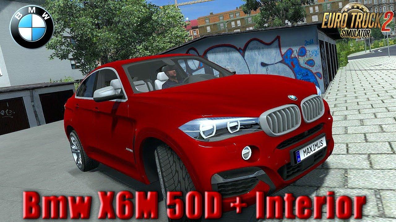 bmw x6m 50d interior v1 0 ets2 mods euro truck simulator 2 mods ets2mods lt. Black Bedroom Furniture Sets. Home Design Ideas