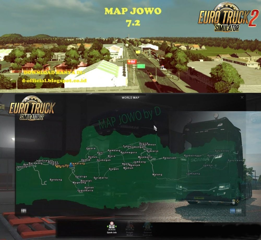 Map Jowo v 7 2 (Indonesian Map) [1 30 x] | ETS2 mods | Euro