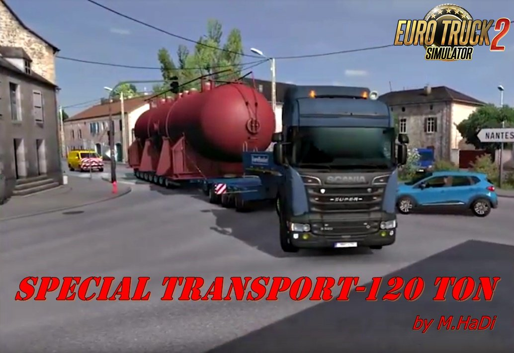 120 tons for special transport by m hadi ets2. Black Bedroom Furniture Sets. Home Design Ideas