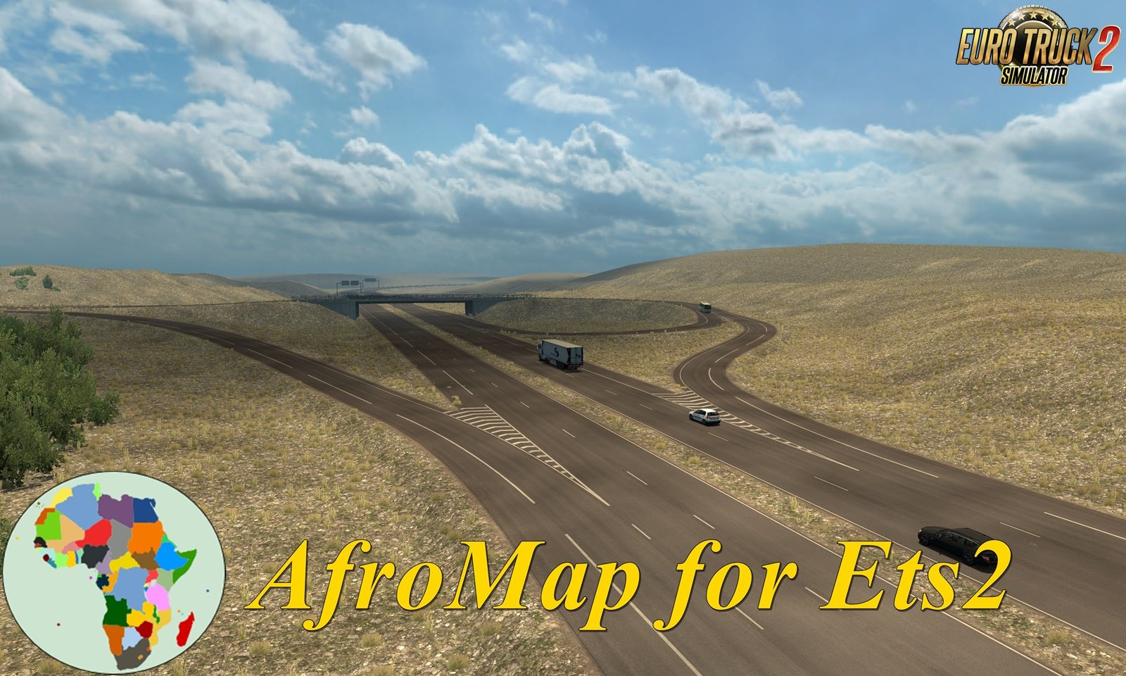 Ets2 Africa Map Download Map of Africa v1.7 [1.32.x] | ETS2 mods | Euro truck simulator 2