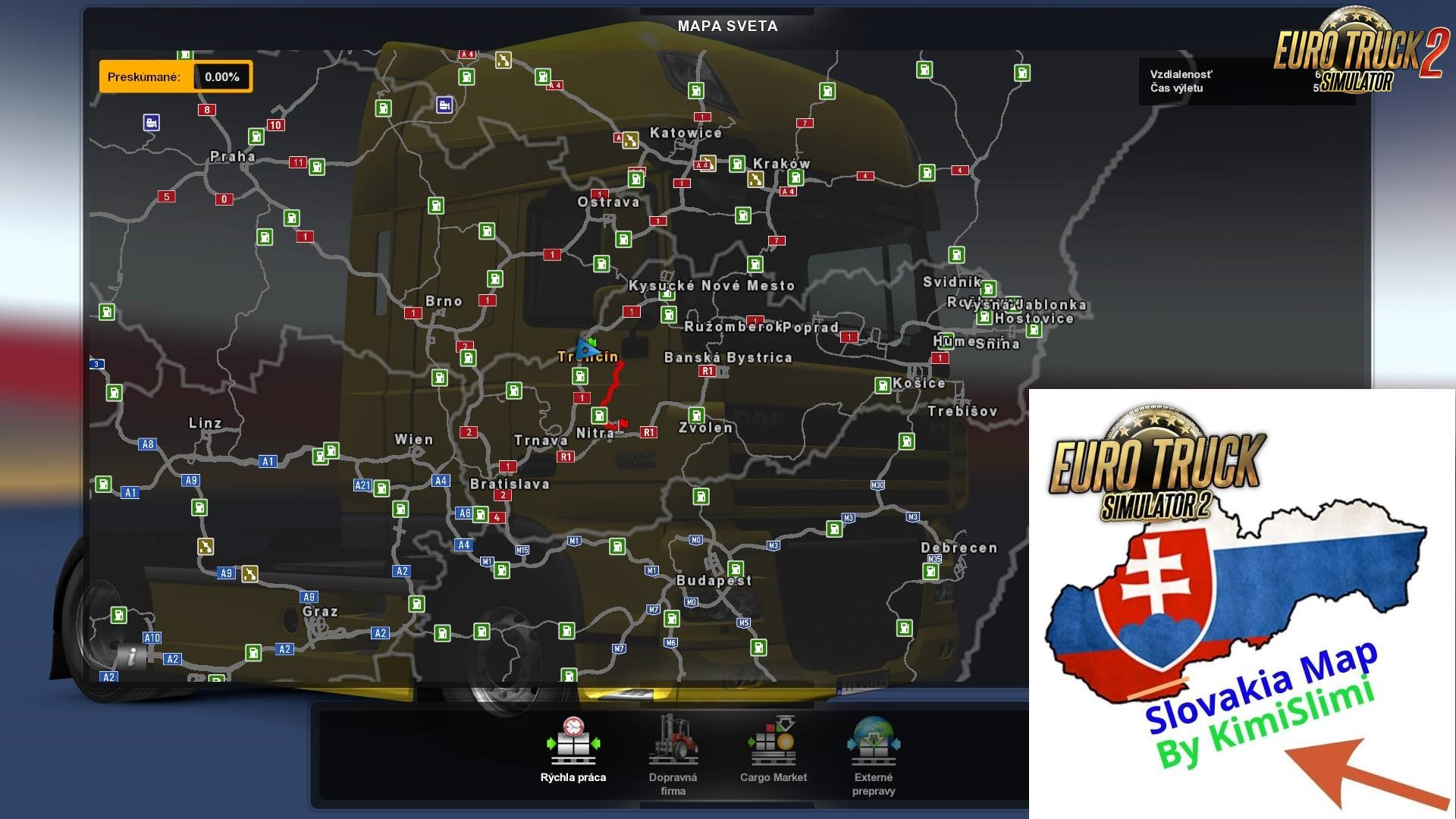 New Slovakia Map V8 0 By Kimislimi 1 32 X Ets2 Mods Euro Truck