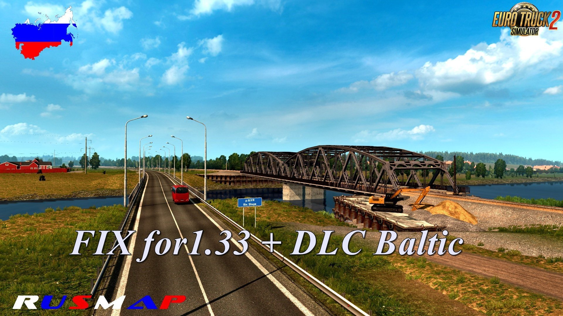 Fixed RusMap 1 8 1 for Baltic DLC 1 33 x | ETS2 mods | Euro