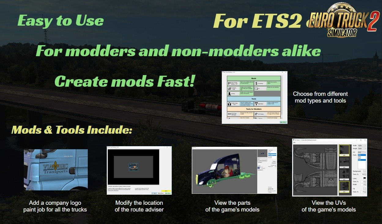 Easy Modding for ATS and ETS2 by Ben v1 1 1 0 | ETS2 mods
