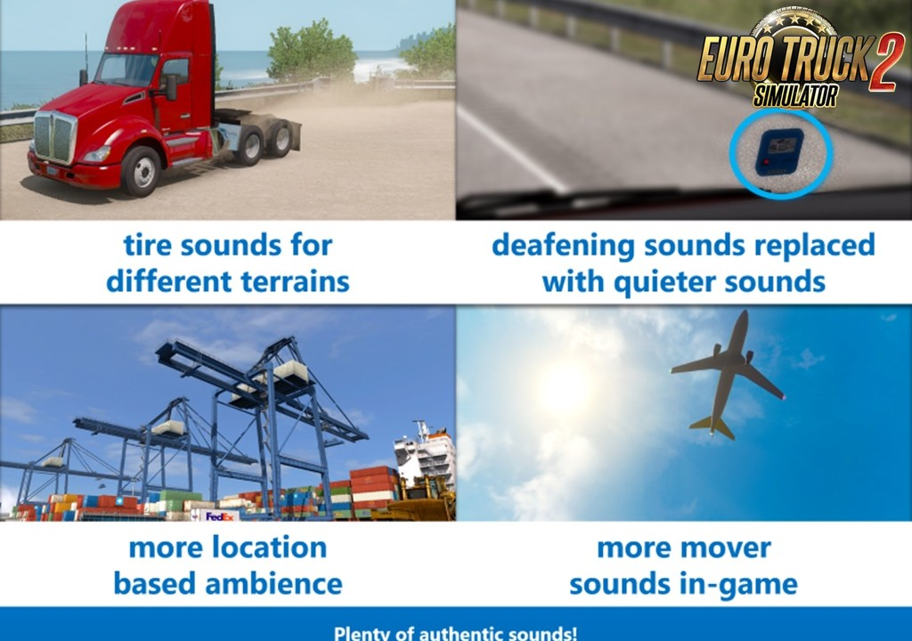 Sound Fixes Pack v19 34 [1 35 x] | ETS2 mods | Euro truck