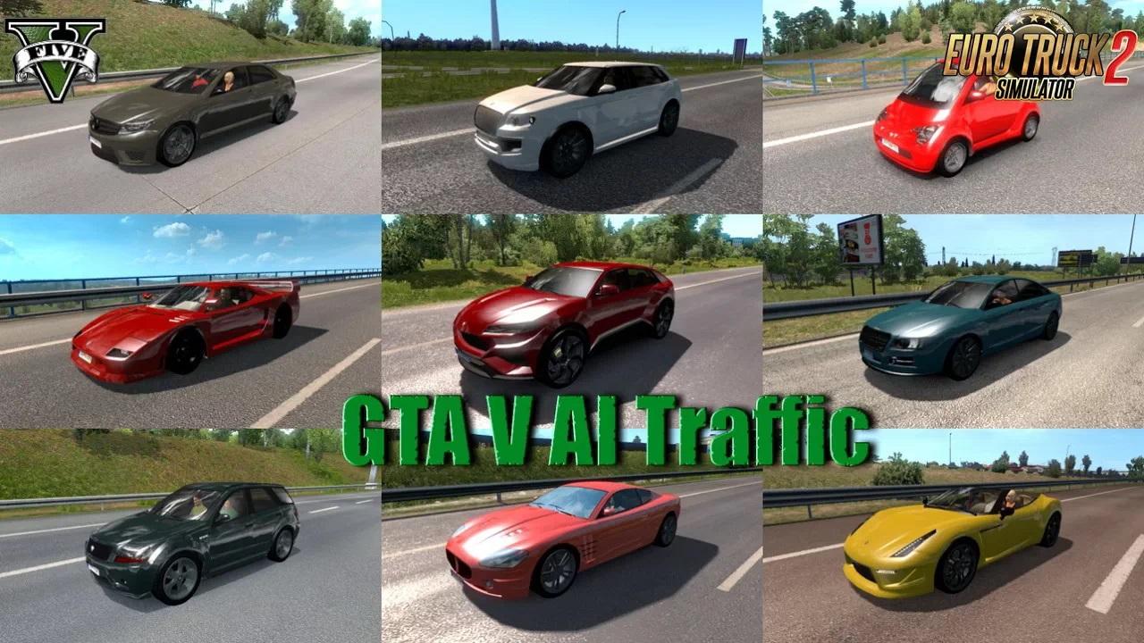 Gta V Vehicles In Traffic Pack V2 3 1 36 X Ets2 Mods Euro Truck Simulator 2 Mods Ets2mods Lt