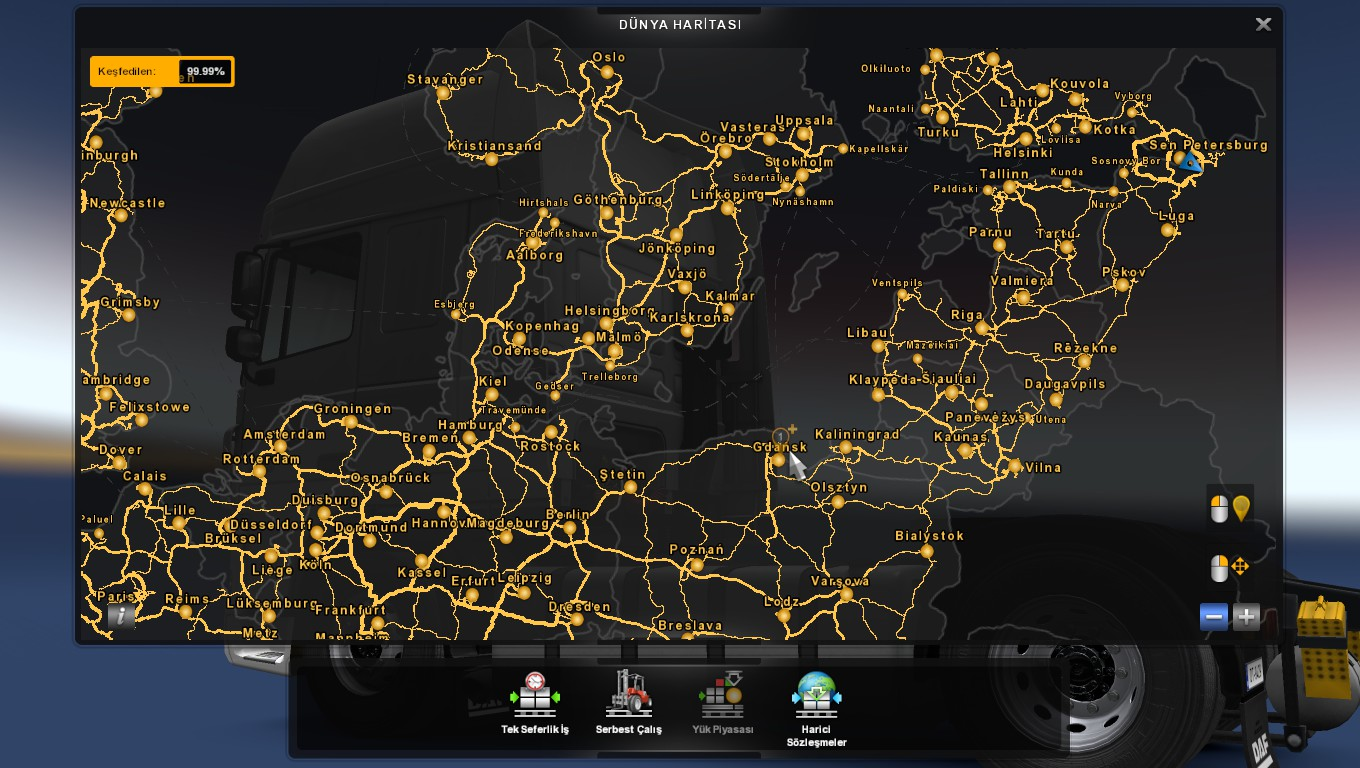 Full save %99 99 +All dlc [1 33 x] | ETS2 mods | Euro truck