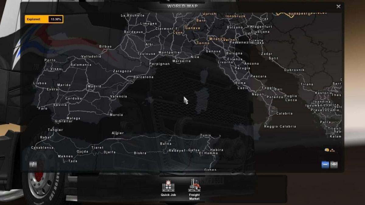 Trucksim Map 1 34 Ets2 Mods Euro Truck Simulator 2 Mods