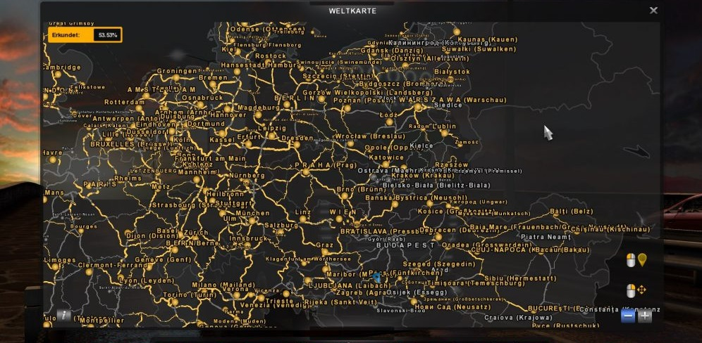 Map Of France With City Names.German City Names V 1 2 For Promods And Italy Hungary Map Ets2