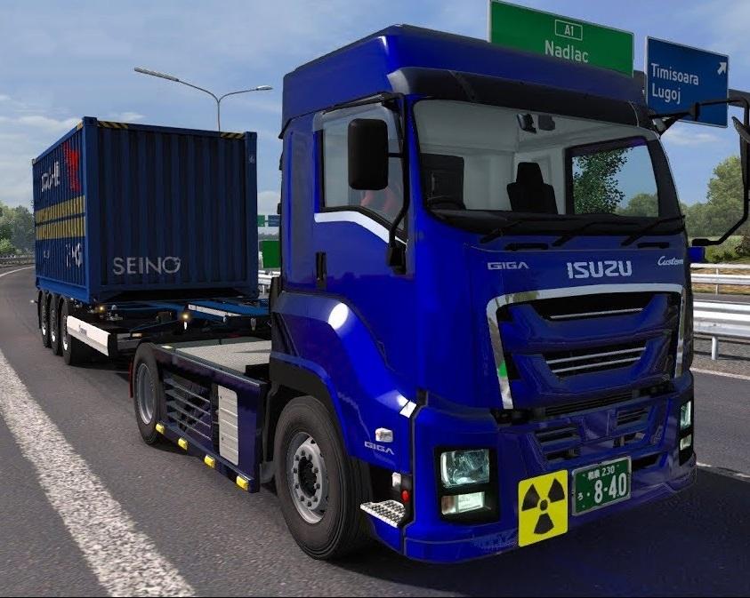 ISUZU Giga [1 34 x]   ETS2 mods   Euro truck simulator 2