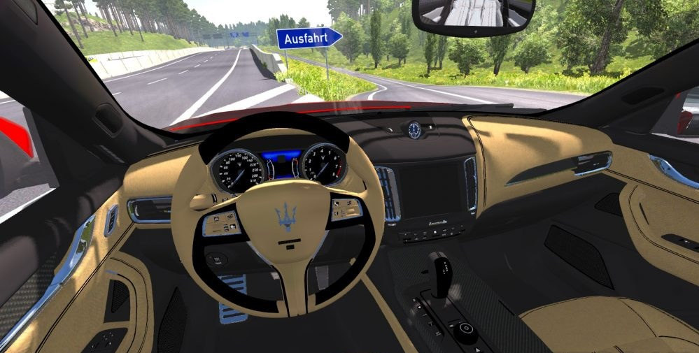 Maserati Levante Ets2 Mods Independent Car Model High Quality Detailed Exterior Interior