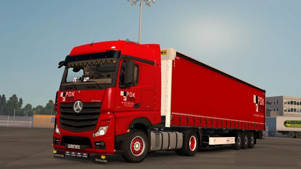 Mercedes Actros Mp4 Wielton Pdk Ets 2 Mods Euro