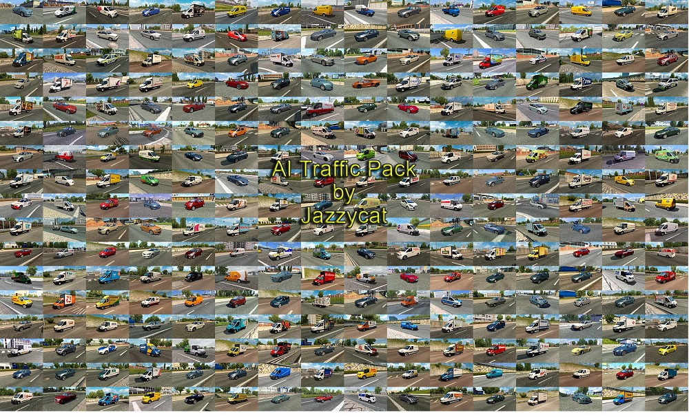 Pack of Cars and Vans in Traffic v10 2 1 35 x   ETS2 mods