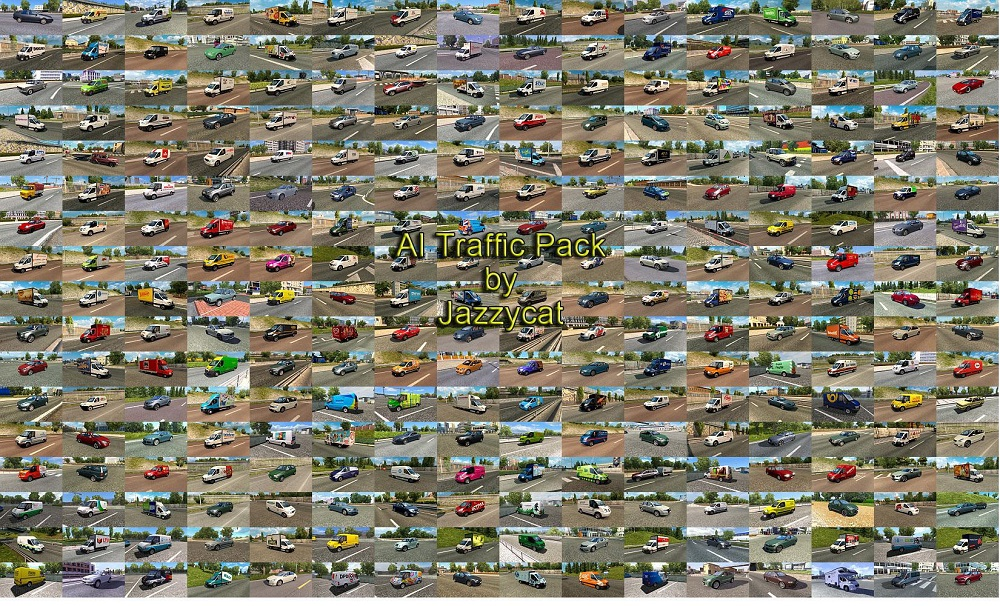 Pack of Cars and Vans in Traffic v10 2 1 35 x | ETS2 mods