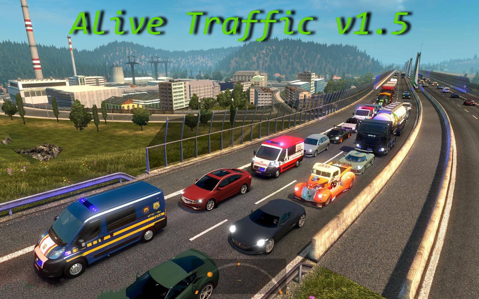 Alive Traffic v1 5 (1 28 x) | ETS2 mods | Euro truck