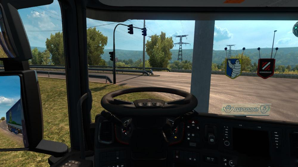 Animated Steering Wheel in all Trucks (1 31 - 1 32) | ETS2 mods