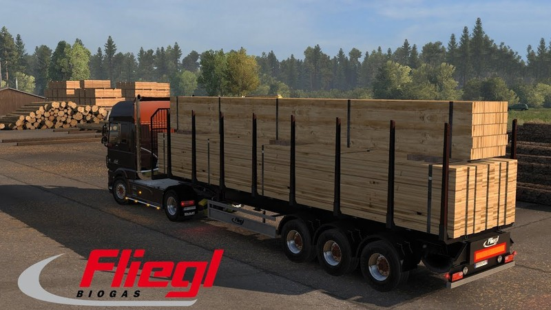 Ownable Log Trailer Fliegl v1 0 1 1 35 x | ETS2 mods | Euro truck