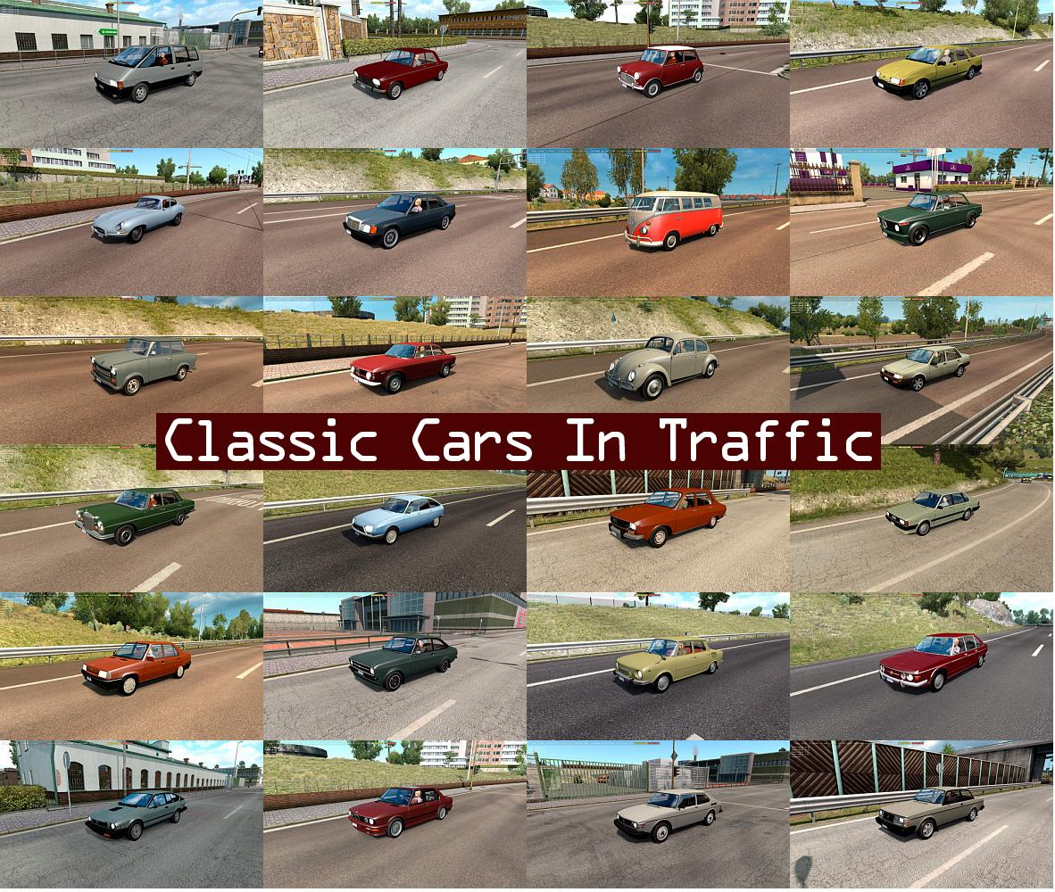 Classic Cars Traffic Pack By Trafficmaniac V1 9 1 1 32 X Ets2 Mods Euro Truck Simulator 2 Mods Ets2mods Lt
