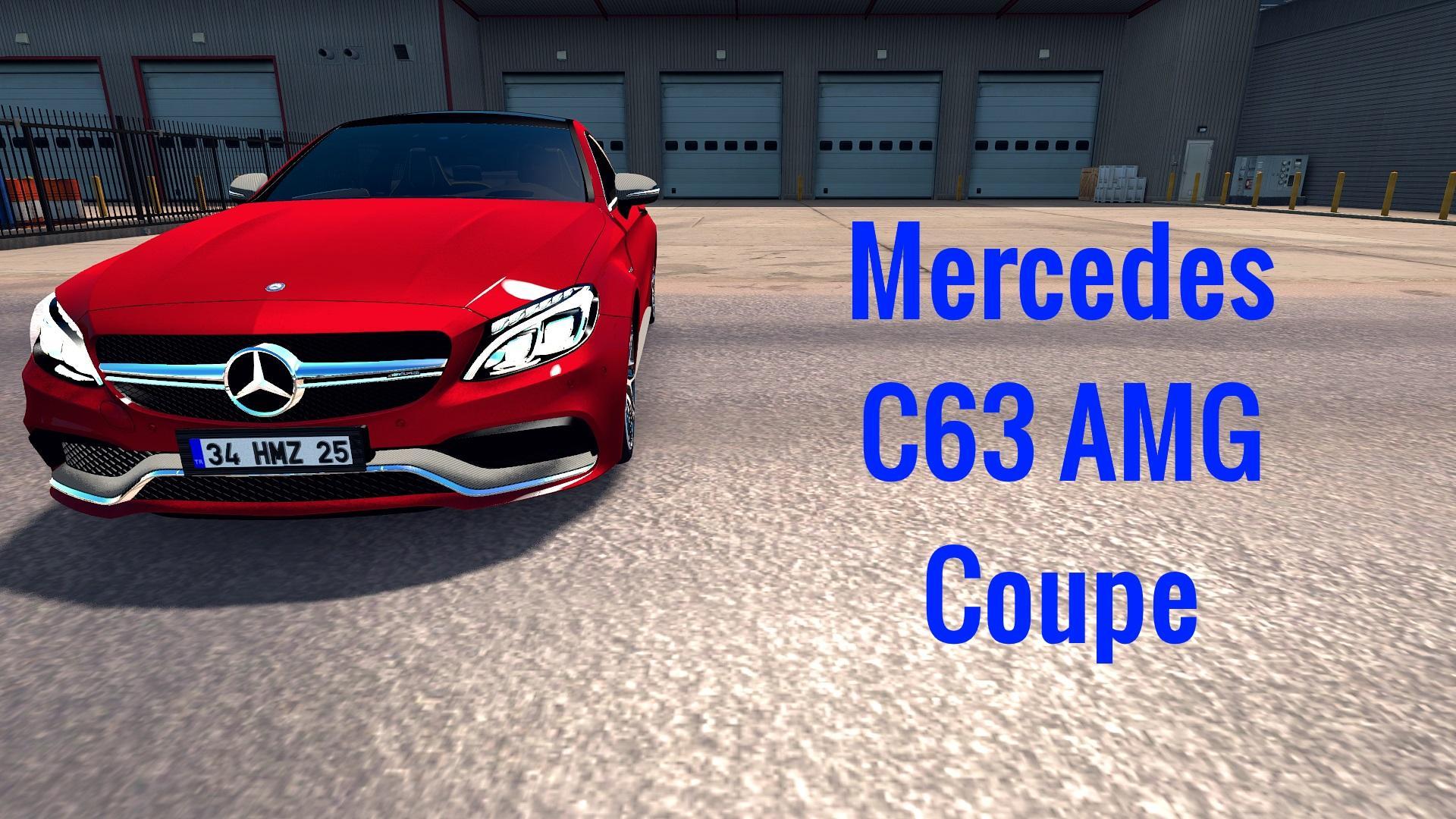 Mercedes-Benz C63s AMG Coupe + Dealer fix 1 33 x | ETS2 mods
