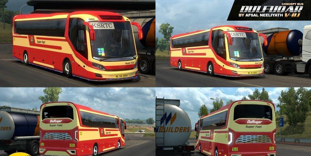 Indian Bus Dulfuqar v0 1 (error fixed) [1 30 x] | ETS2 mods