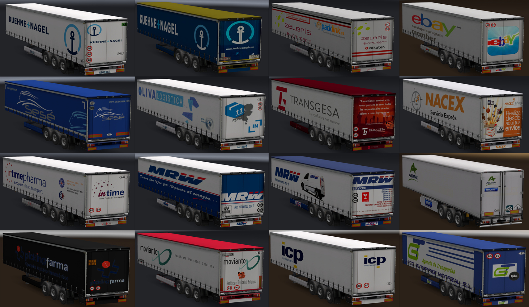 Real company trailers | ETS2 mods | Euro truck simulator 2