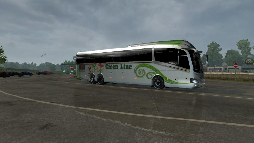 Volvo Bus Coach Source Rizari 6 Green Line HD Texture BD Skins 1 31 X ETS2