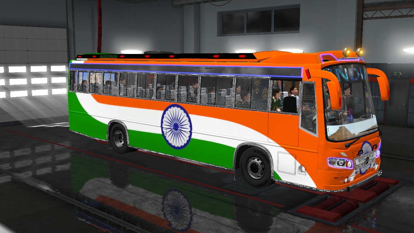 INDIAN SKINS FOR MARUTI BUS IN ETS2 | ETS2 mods | Euro truck