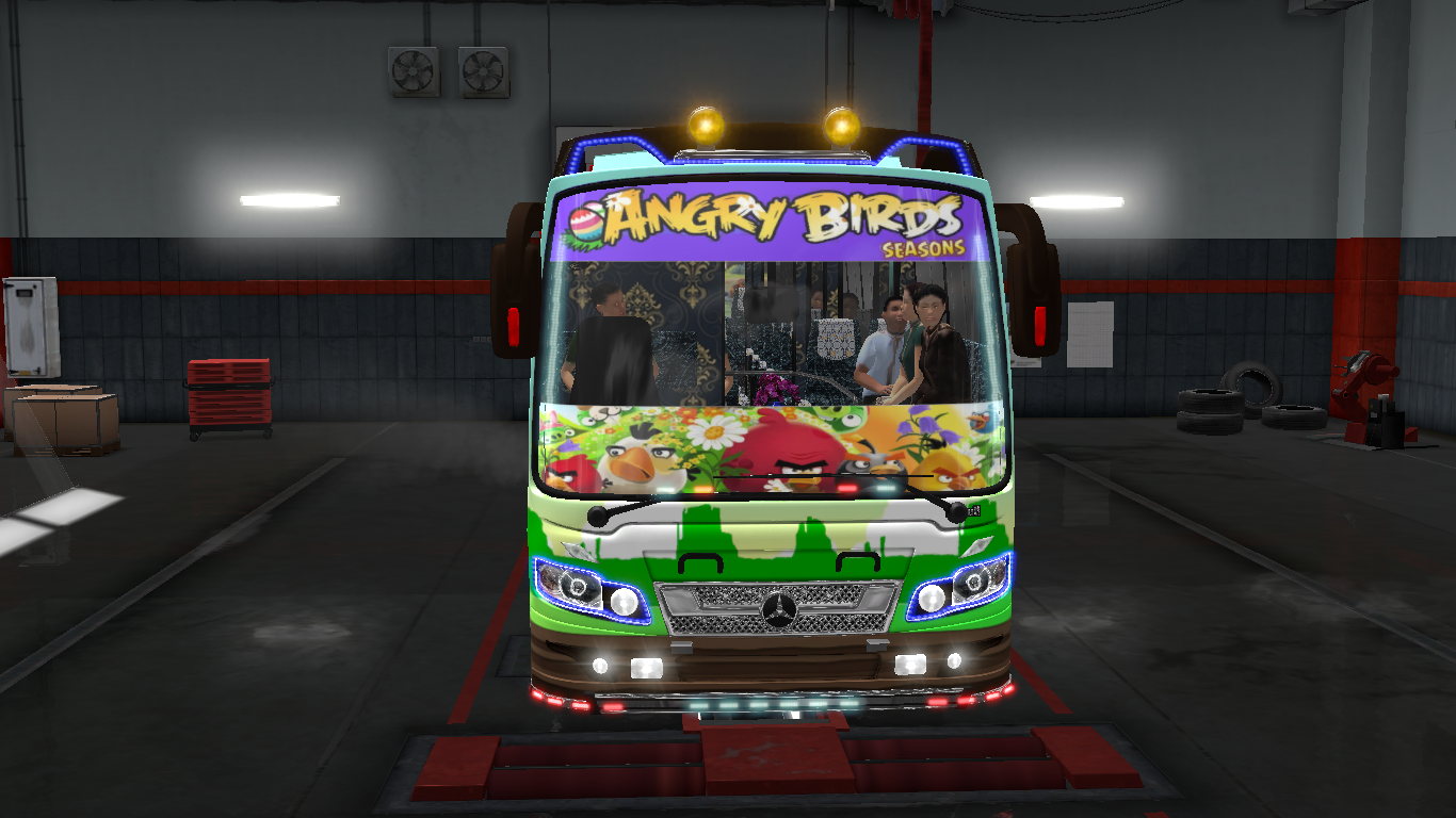 ANGRY BIRDS SEASONS SKINS FOR MARUTI BUS IN ETS2 | ETS2 mods