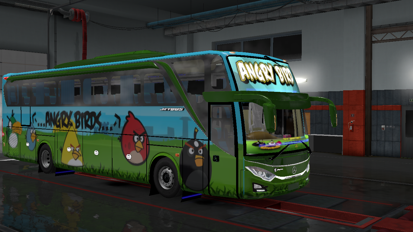 Angry Birds Skin For Indonesia Jetbus 3 Hdd Bus In Ets2