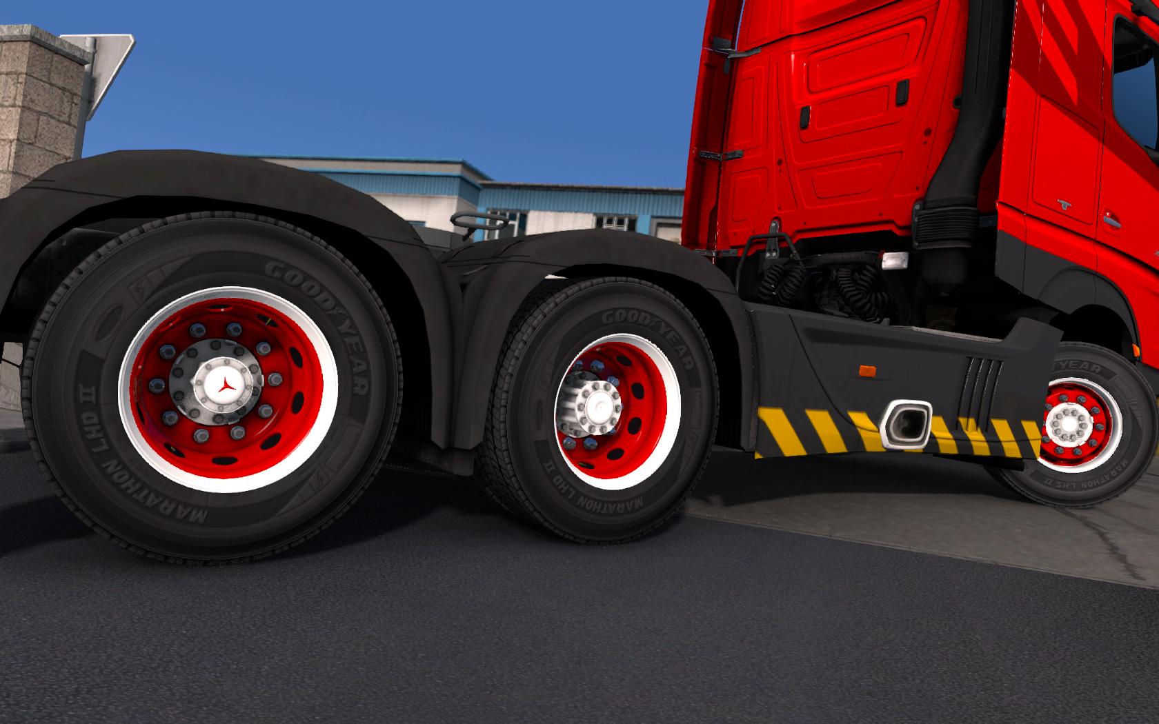 Red & White abasstreppas Wheels | ETS2 mods | Euro truck