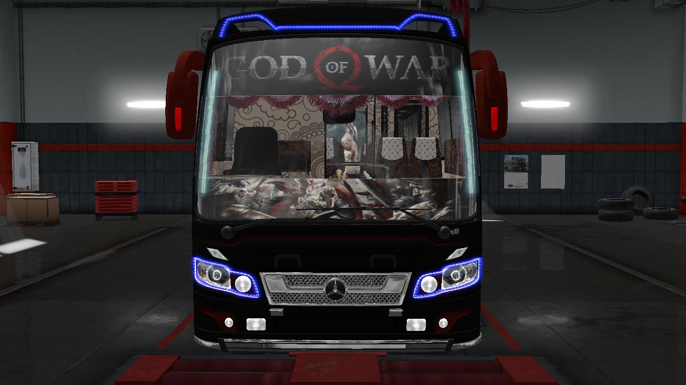 GOD OF WAR SKINS FOR MARUTI BUS IN ETS2   ETS2 mods   Euro