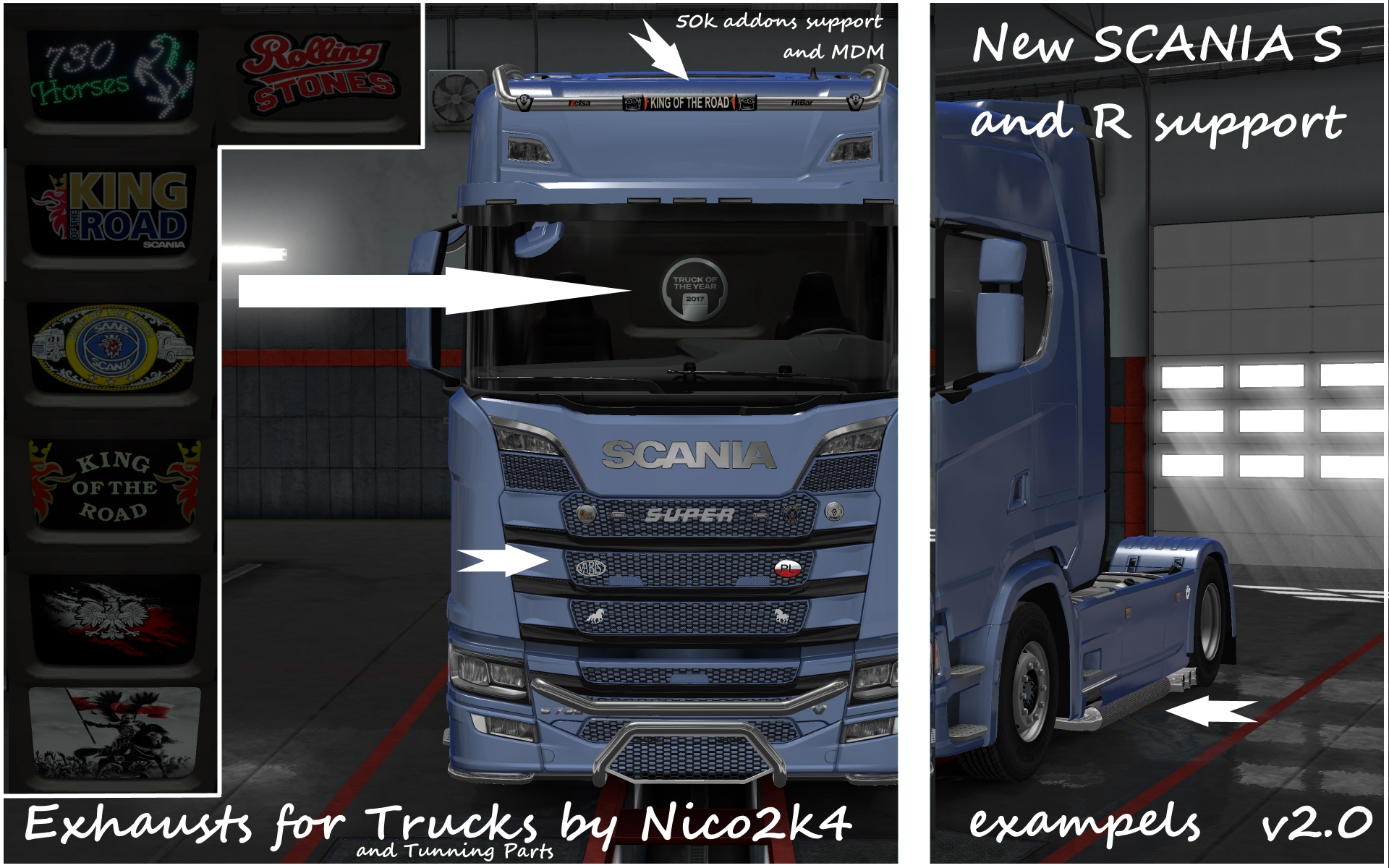 Exhausts & Accessories for Trucks v2 0 by Nico2k4 1 35 x