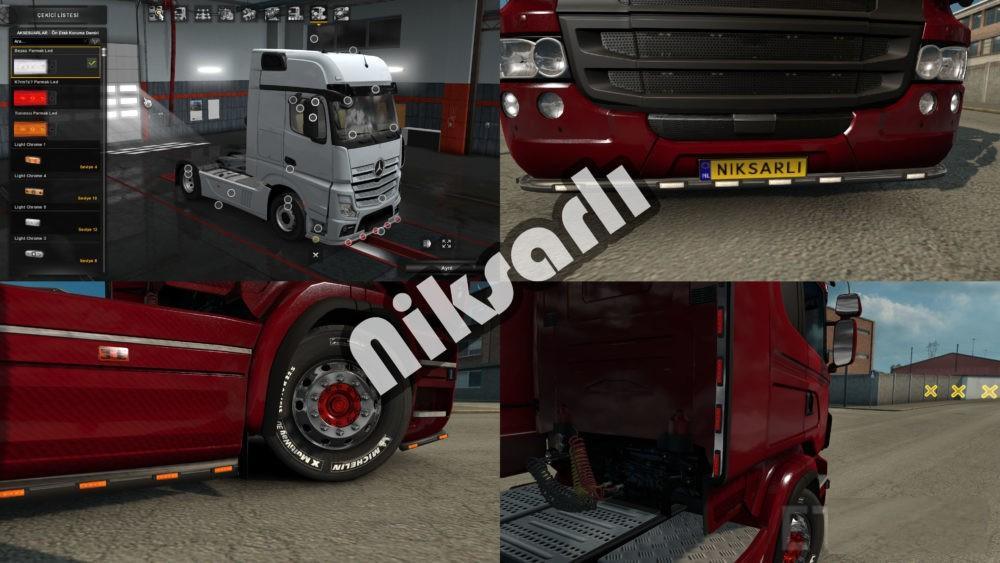 Finger Led Lights 1 32   ETS2 mods   Euro truck simulator 2