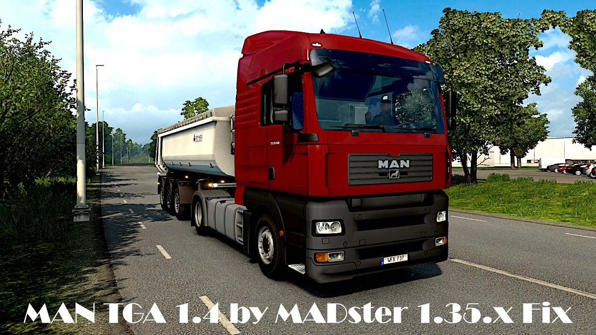 Fix for MAN TGA v1 6 by MADster 1 35 x | ETS2 mods | Euro