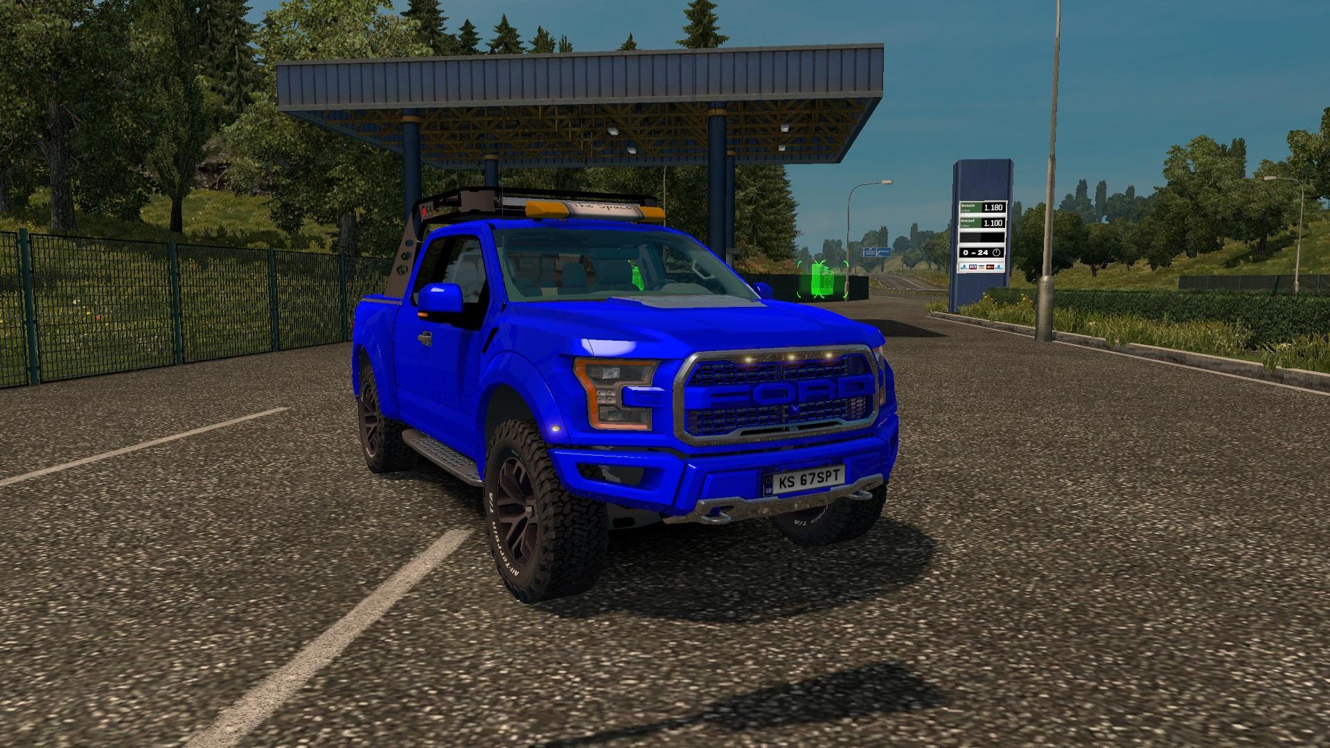 Ford F150 Raptor 2017 v1 0 [1 31 x] | ETS2 mods | Euro truck