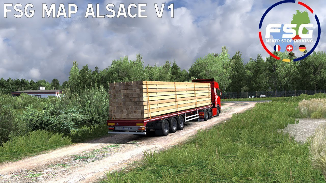 Map of Alsace (FSG) Scale 1:1 v1 0 [1 35 x] | ETS2 mods