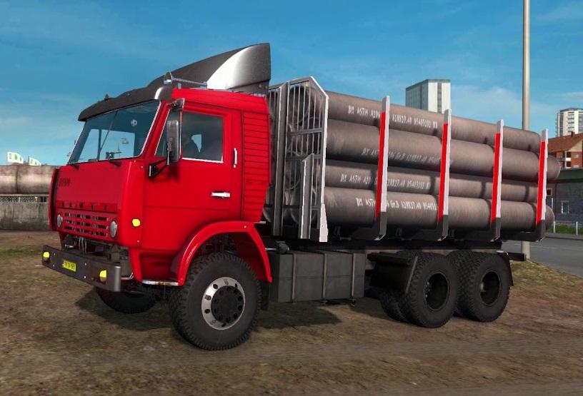 Kamaz 5410 HQ [1 35 x] | ETS2 mods | Euro truck simulator 2 mods