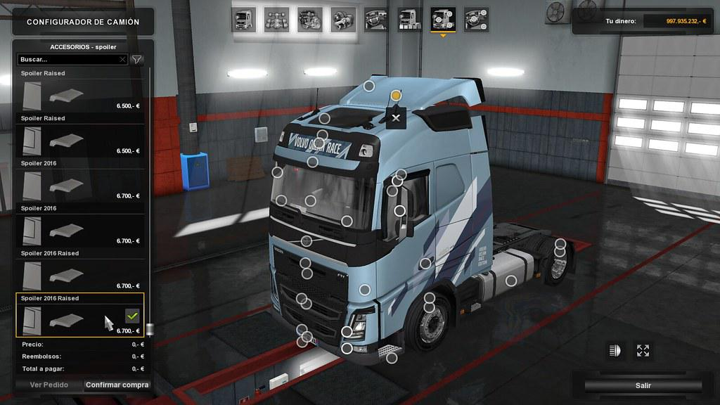 LOW DECK CHASSIS ADDON FOR EUGENE VOLVO FH V1 4 1 35 X