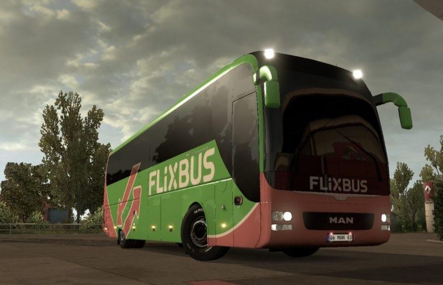 MAN Lions Coach + Flixbus Skin v1.1 [1.30.x] | ETS2 mods | Euro truck simulator 2 mods - ETS2MODS.LT