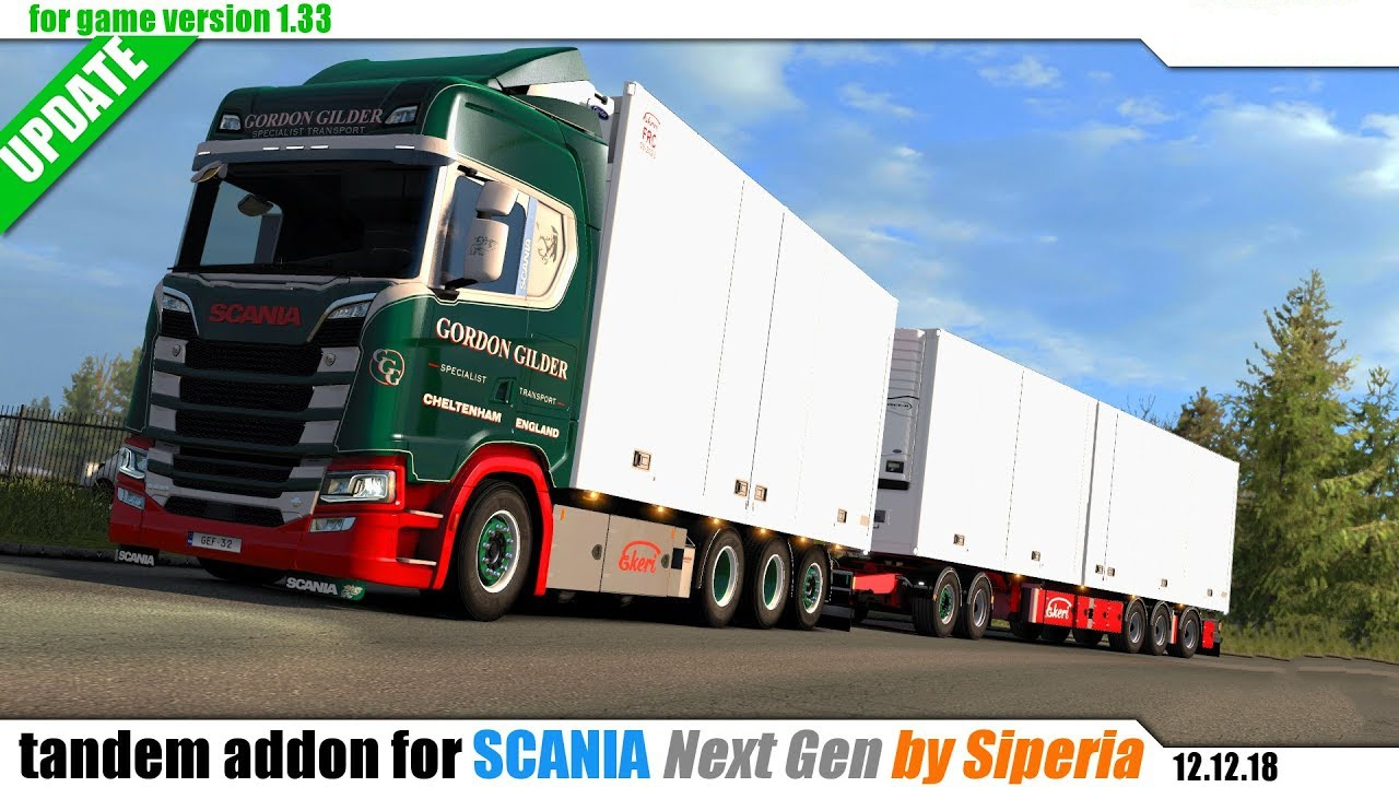 Tandem Addon For Next Gen Scania By Kast Siperia Upd