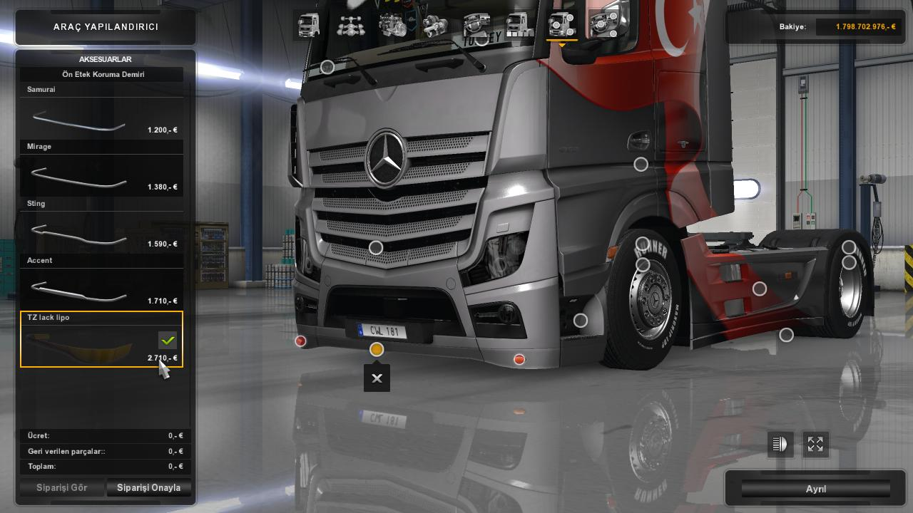 benz actros mp4 tuned ets2 mods euro truck. Black Bedroom Furniture Sets. Home Design Ideas