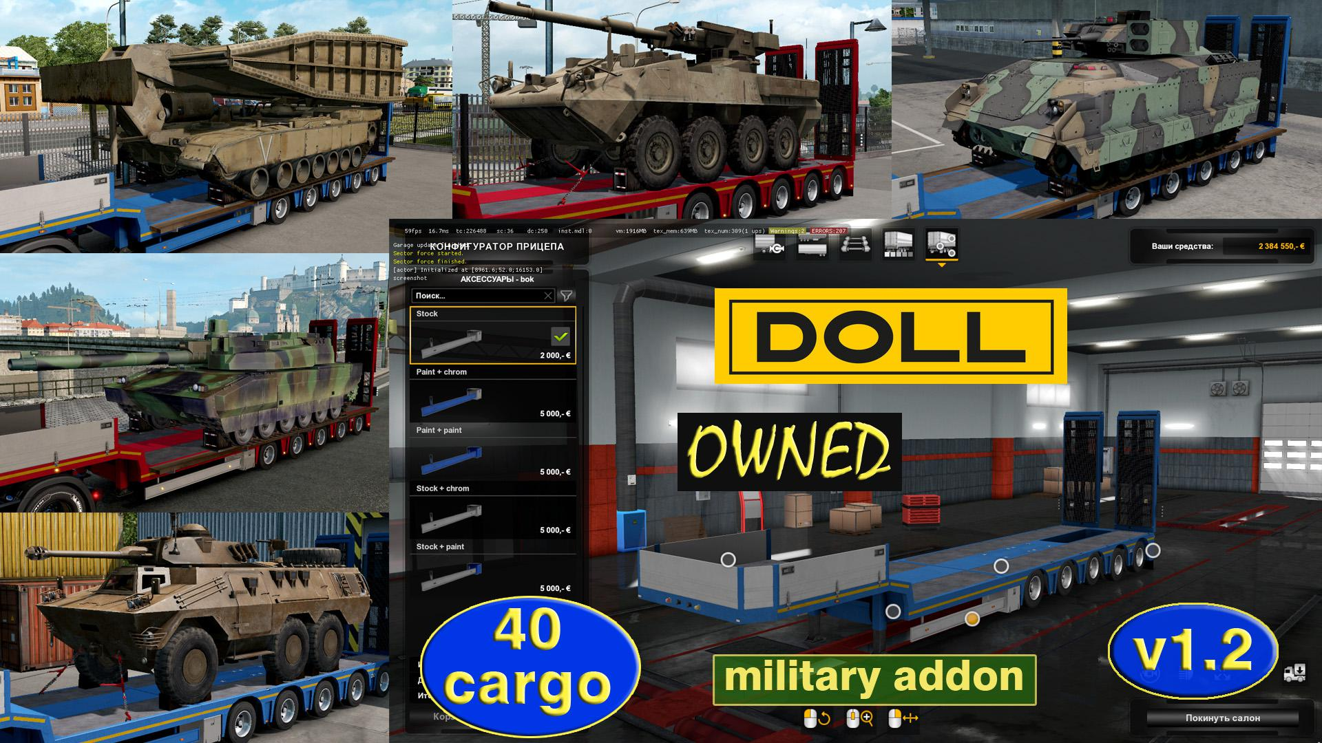Military Addon for Ownable Trailer Doll Panther v1 2 1 34 x | ETS2
