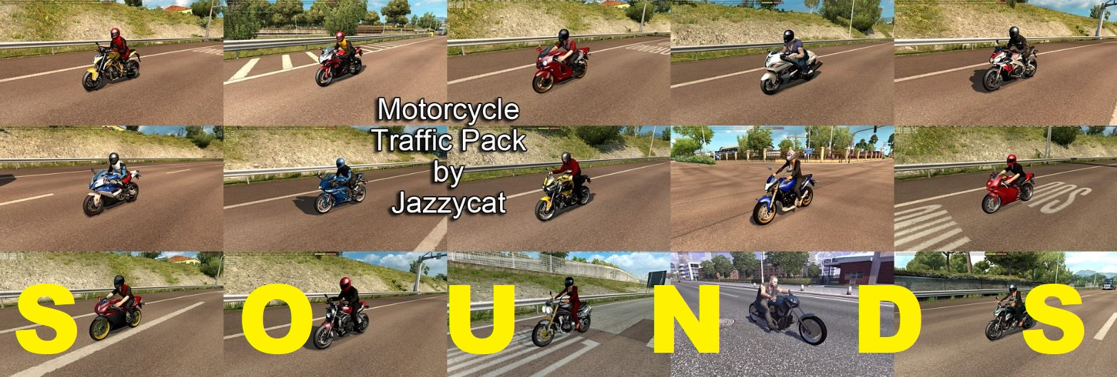 Sounds for Motorcycle Traffic Pack by Jazzycat v 1 2 | ETS2