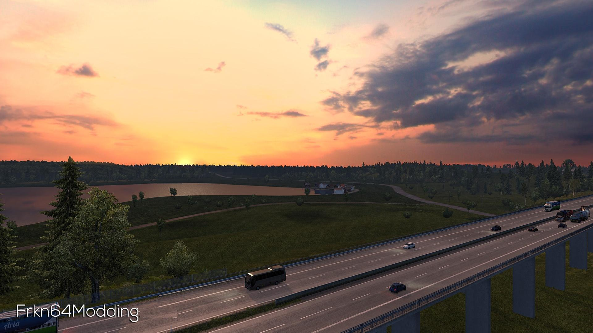 Realistic Graphics Mod v 2 1 – by Frkn64 1 31 x | ETS2 mods