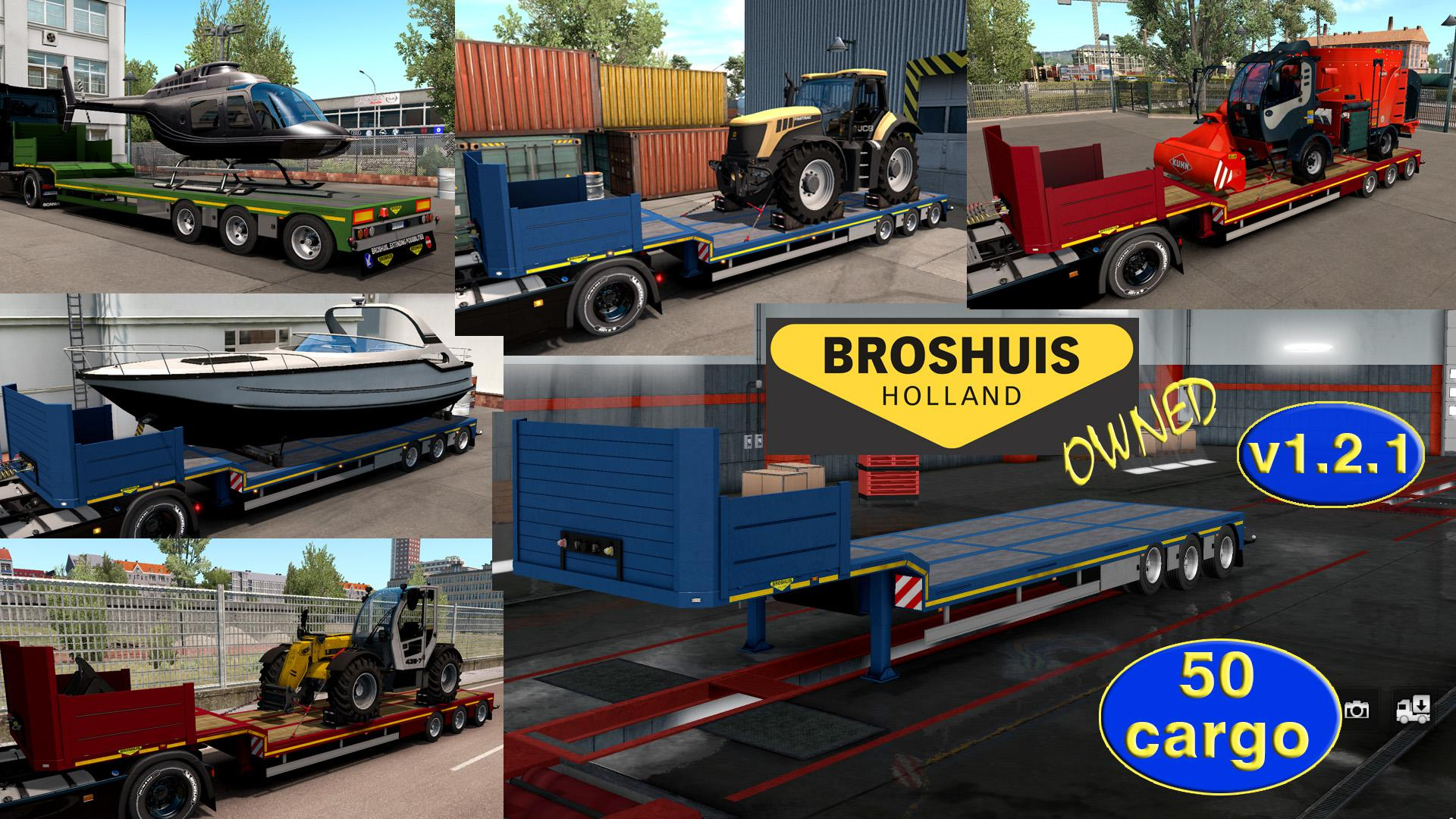 OWNABLE OVERWEIGHT TRAILER BROSHUIS V1 2 1 1 35 X | ETS2